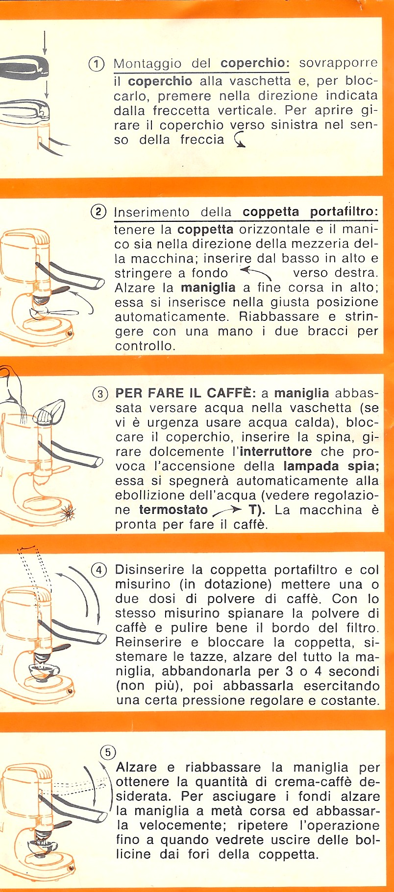 map coffee machine instruction manual