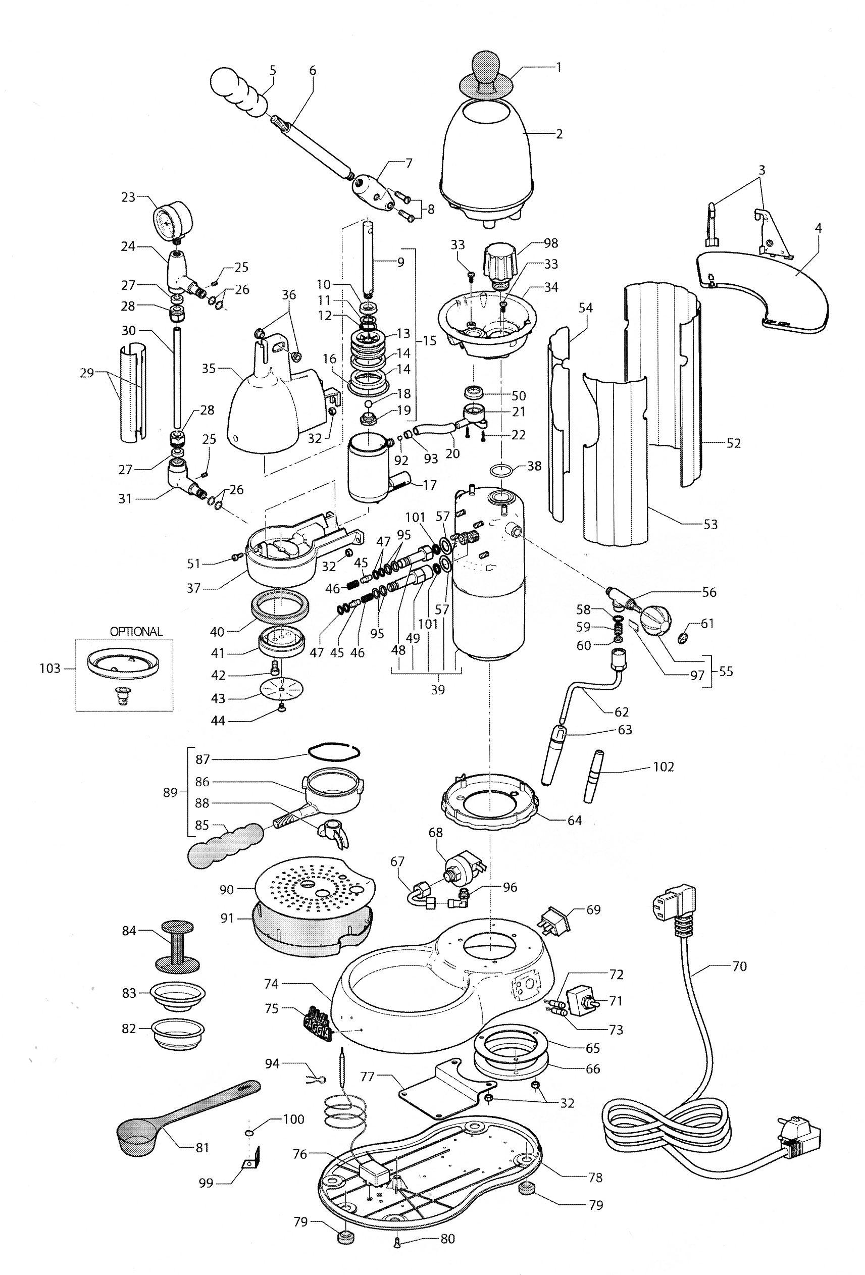 Espresso machine schematic Coffee effects and diagrams