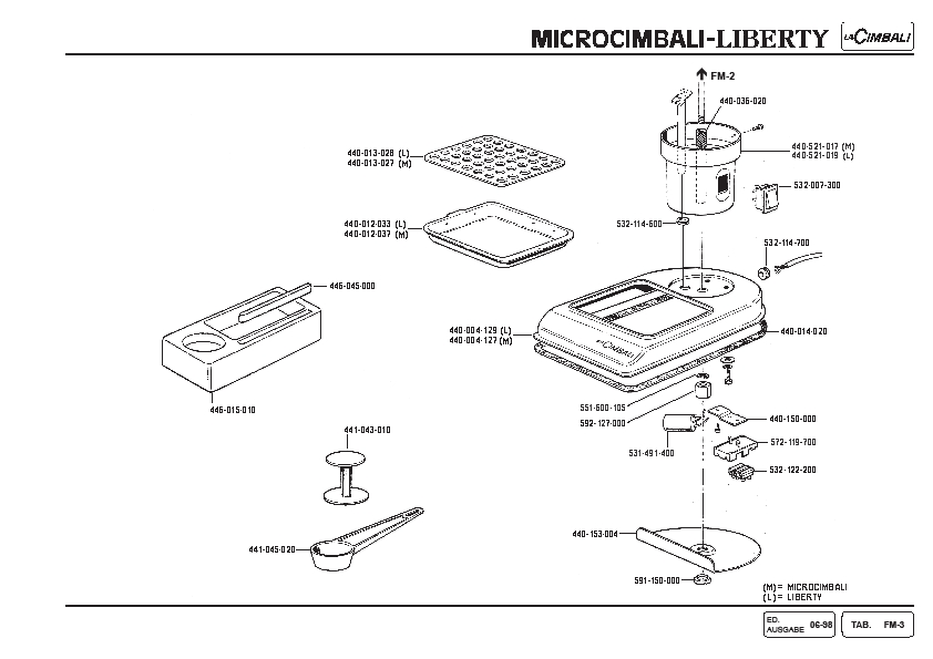 Microcimbali Espresso Machine Parts Schematic - Page 3