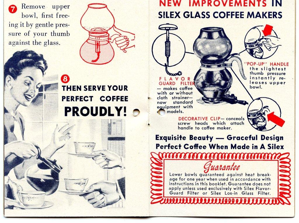 Old Silex Coffee Maker : Silex Vacuum Coffee Maker Manual