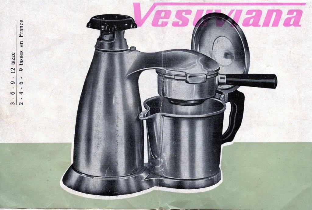 Espresso Coffee Maker Vesuviana Vintage Made in Italy 24 oz. Cafe Cappuccino,, eBay