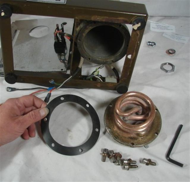 Olympia Cremina Rebuild Boiler Gasket Instructions - Boiler ready to reassemble